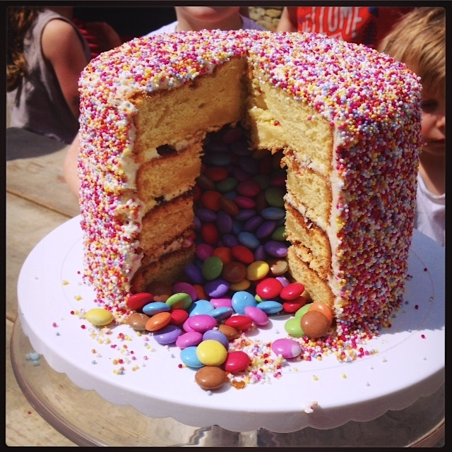 sprinkle smartie cake
