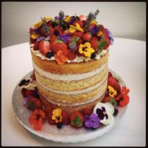 Layer cake with lemon mascarpone buttercream